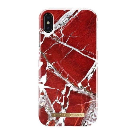 iDeal Fashion Case Scarlet Red Marble iPhone XS Max