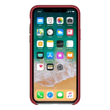 Apple iPhone XS/X Leather Case Red