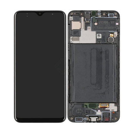 Samsung Galaxy A30s Skärm Med LCD Display – Original – Svart
